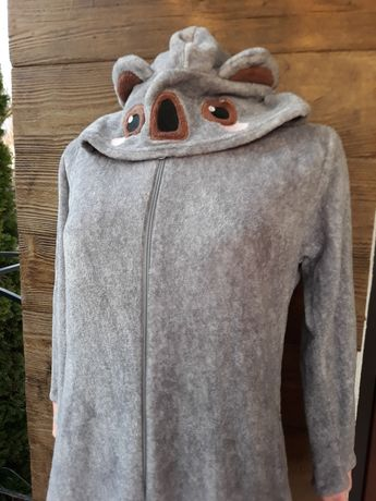 Piżama pluszowa pajac koala 128 cm uszka oczka. Nowa.