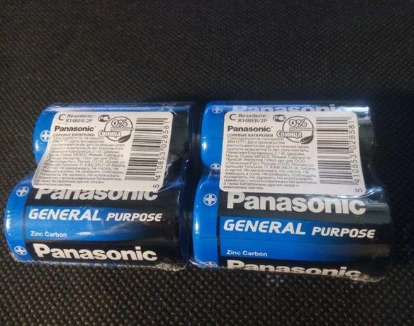 Батарейти Panasonic тип C Tray 2 Zinc-Carbon (R14BER/2P) 2шт