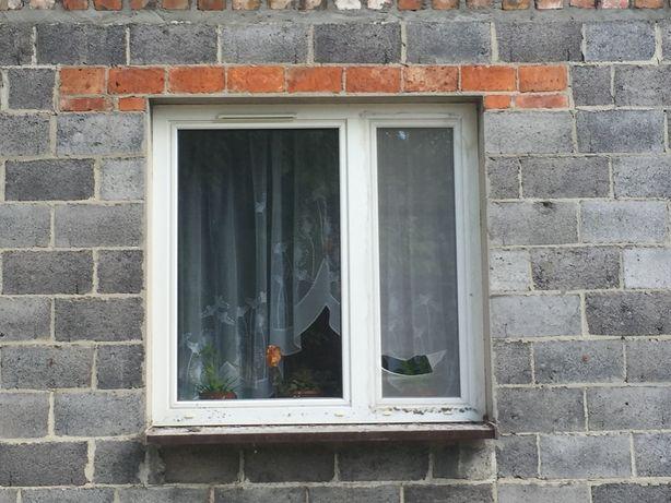 Okno PCV białe 146,5x148 cm używane dwuskrzydłowe wywietrznik