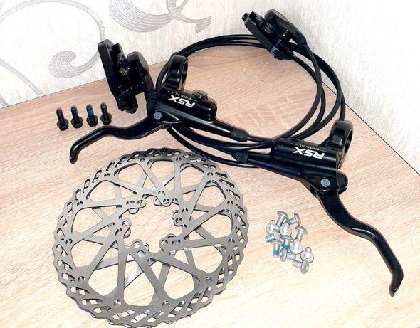 Гидравлические дисковые тормоза RSX + роторы (аналог Shimano MT200)