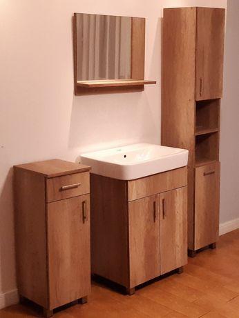 NOWE Szafka łazienkowa słupek łazienkowy szafka pod umywalkę lustro