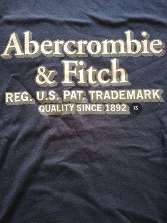 Abercrombie & Fitch nowa USA koszulka męska XS granatowa 100% bawełna