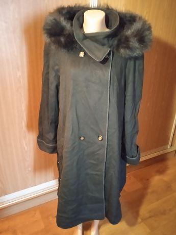 Шикарное кашемировое пальто большой размер