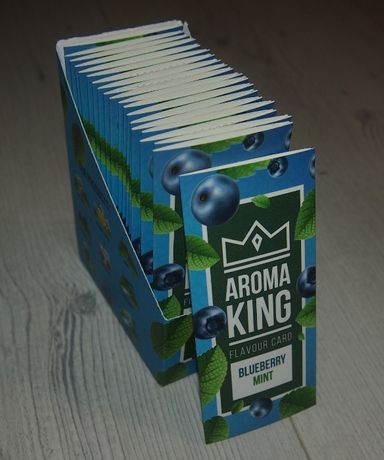 Karta aromatyzująca jagodowo miętowa 20 sztuk