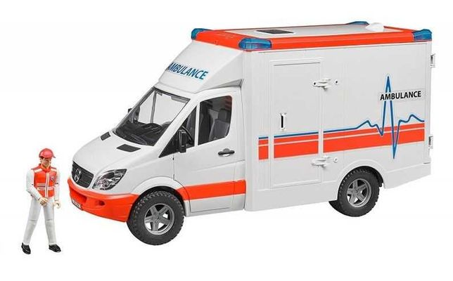 BRUDER 02536 Karetka Ambulans Mercedes z kierowcą