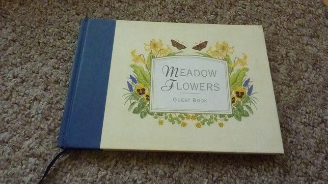 """Vintage księga gości """"kwiaty polne"""" archiwalna extra"""