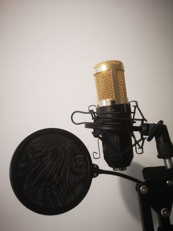 Mikrofon estradowy z statywem i filtr+kabel