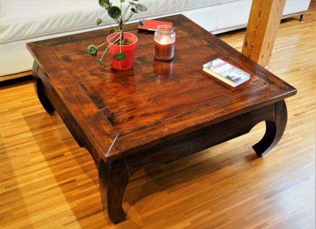 Indyjska ława / stolik kawowy w stylu kolonialnym - OPIUM - AlmiDecor
