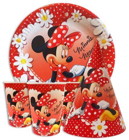 Мини Маус Minnie Mouse посуда флажки салфетки скатерть шары колпаки