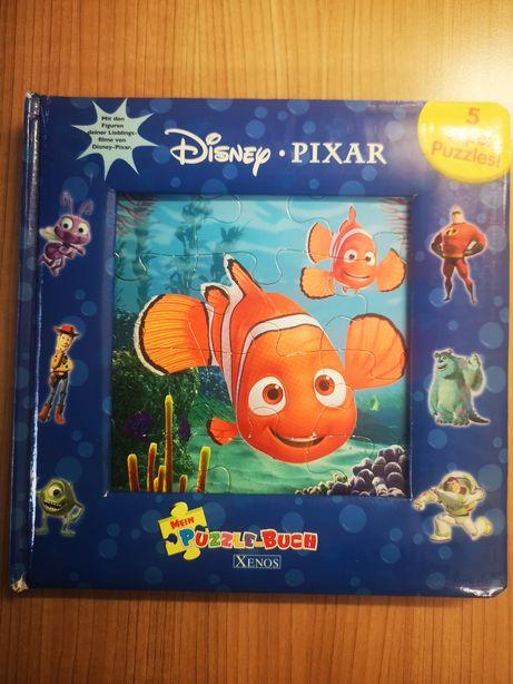 Książka Disney pixar puzzle język niemiecki po nieniecku