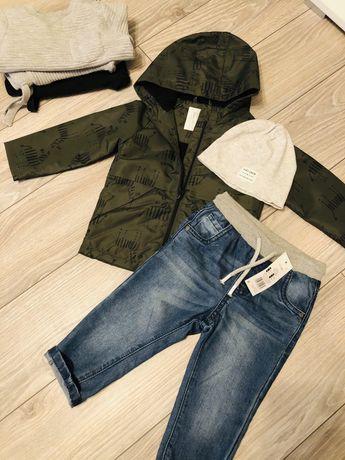 Kurtka wiosenna jeansy nowe f&f spodnie chlopiec 12-24 mies