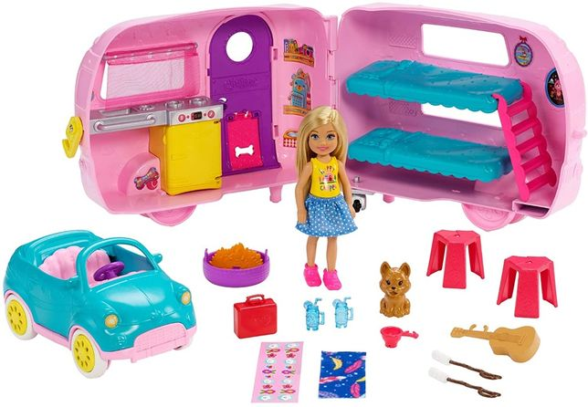 Барби Челси Кемпер Barbie Club Chelsea Camper Playset with Doll Уценка