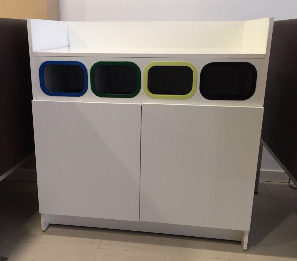 2 contentores para separação de residuos