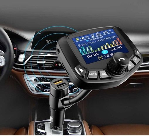 FM Трансмиттер модулятор с USB и Micro-SD Bluetooth для Авто Car QC3