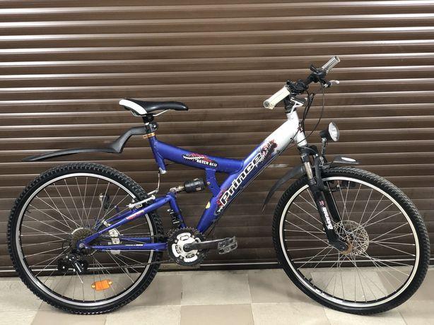 Велосипед горный двухподсес алюминий гнрмания