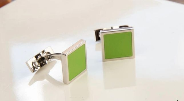 Запонки   Dupont  Palladium Lacquer Green