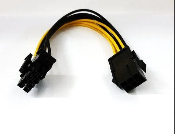Переходник Кабель питания видеокарты PCI-e 6 pin -> 8 pin