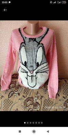 Свитшот , пуловер с зайцем бакс бани