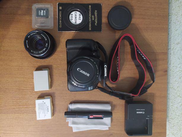 Canon 550d + 50 mm 1.8 +  + аксессуары