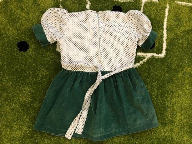Нарядное платье зеленый велюр для утренника 4/5 лет 150 грн