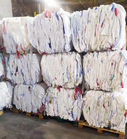 Worki BIG BAG, używane Na pellet, odpady, zboże, regranulaty, przemiał