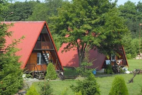 Domki bezpośrednio nad morzem - rozległy Ośrodek Gąski koło Mielna