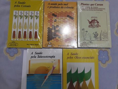Pack- Saude 6 livros ,saude,plantas que curam,Mel,cereais,óleos,etc