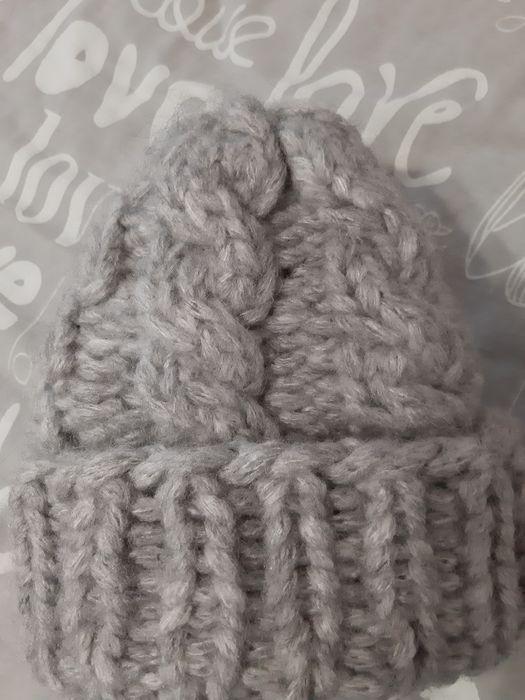 В'язана шерстяна шапка ручної роботи Кобеляки - изображение 1