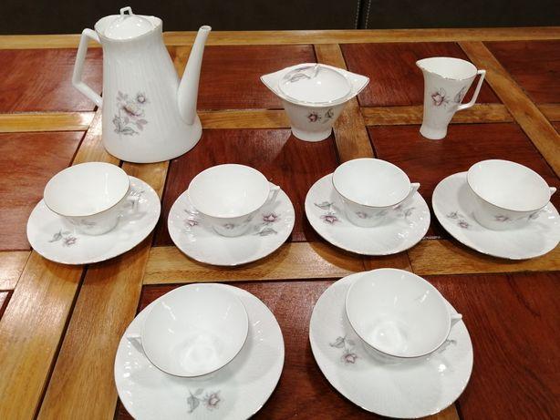 Conjunto de Chá Vista Alegre filet Ouro Porcelana