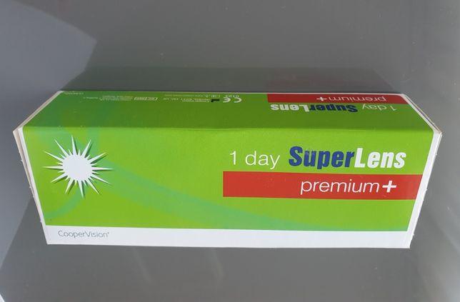 Soczewki kontaktowe jednodniowe -1,25 Super Lens premium+ 30szt.