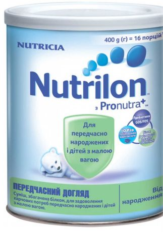 Детская смесь Nutrilon преждевременный уход дома