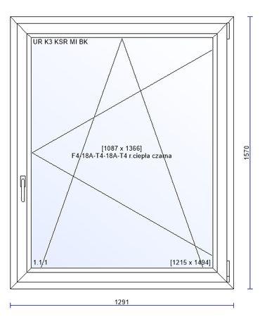 Okno PCV 1291x1570 Ru Salamander bE82 MD