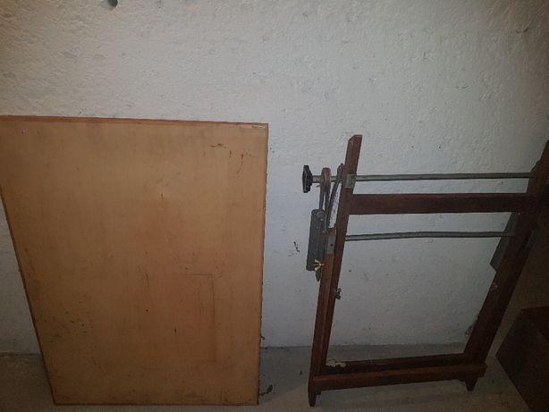 SKALA Stół kreślarski z epoki PRL - składany blat: 70x100 cm
