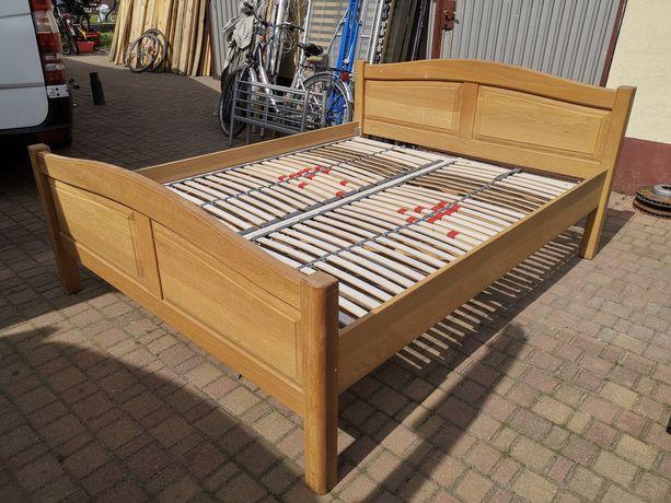 Dębowe łóżko 160x200 z materacem