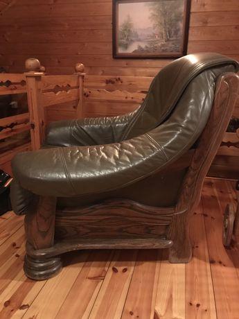 Skórzana sofa i fotel - solidne w stylu holenderskim