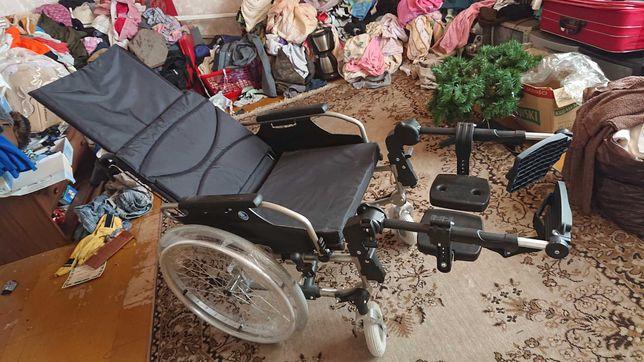 Wózek inwalidzki szeroki nowy