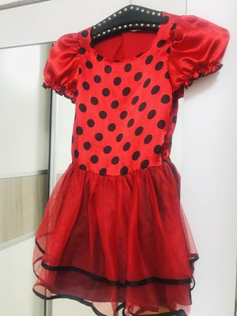 Платье костюм божья коровка, леди баг, красное на утренник