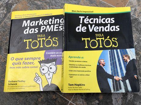 2 Livros Marketing e Técnicas de Vendas para Totós