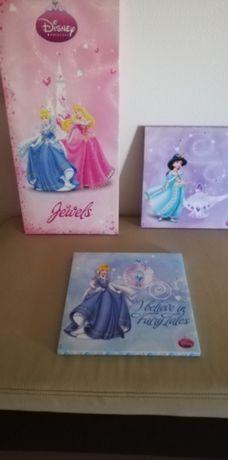 3 quadros quarto criança Disney