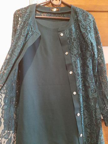 Плаття з ажурним кардиганом 44-46