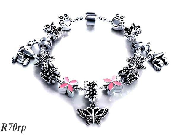 Bransoletka typ pandora Murano Beads charms R70rp