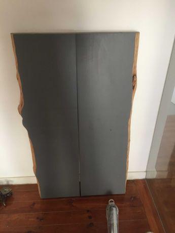 2 x Painel de madeira pinho 120x40x6cm