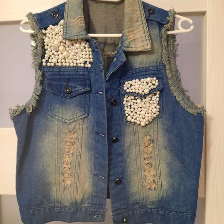 Kamizelka damska jeansowa