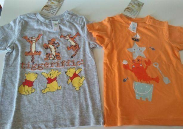 Lote t-shirts novas C&A e 1 Migros Kids, 92 CMS, portes incluídos