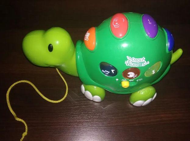 Музыкальная черепаха каталка keenway stroll buddies игрушка черепашка