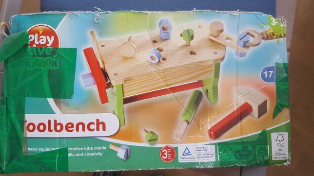 zestaw drewnianych narzędzi majsterkowicz