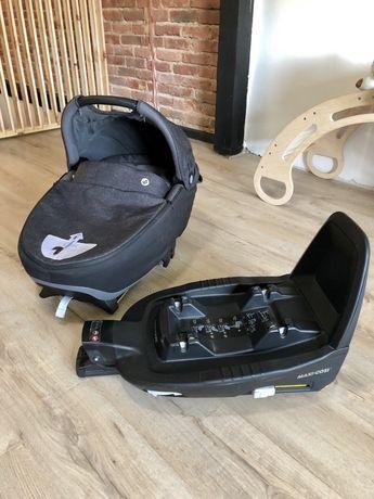 Fotelik samochodowy gondola Maxi Cosi Jade dla niemowląt, bezpieczny.