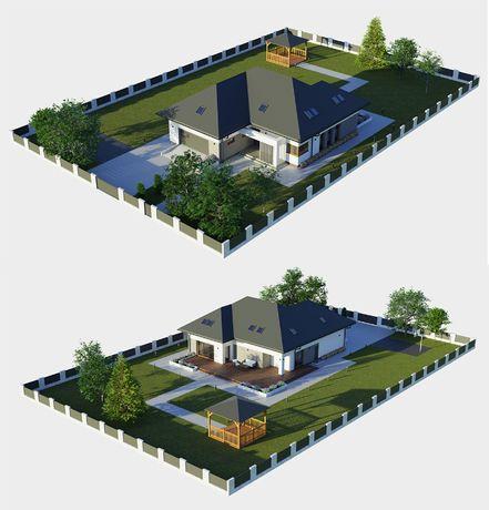 Projekt elewacji, wizualizacje 3D, wizualizacje na zdjęciach