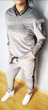 Szary dres DANCE welurowy My Luna S M L XL