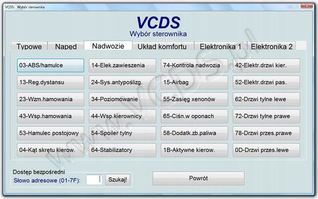 Zeszyty kodowań i adaptacji,loginy,kody usterek,kody błędów VAG VCDS